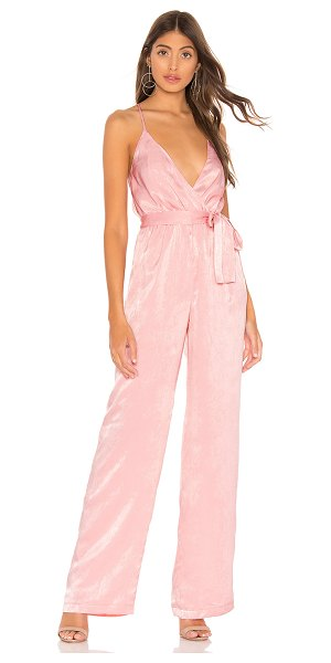 Lovers + Friends spell on you jumpsuit in blush pink