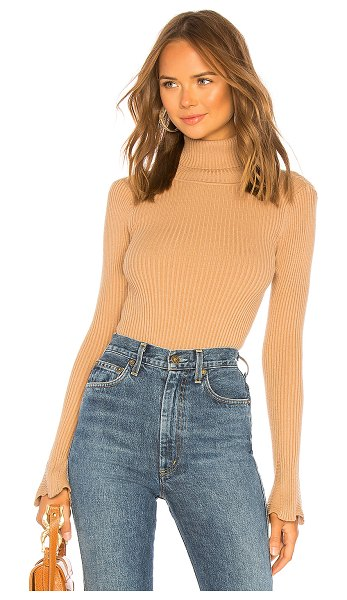 Lovers + Friends Viola Rib Sweater in brown - Proving turtlenecks can be sexy, the Viola Rib Sweater...