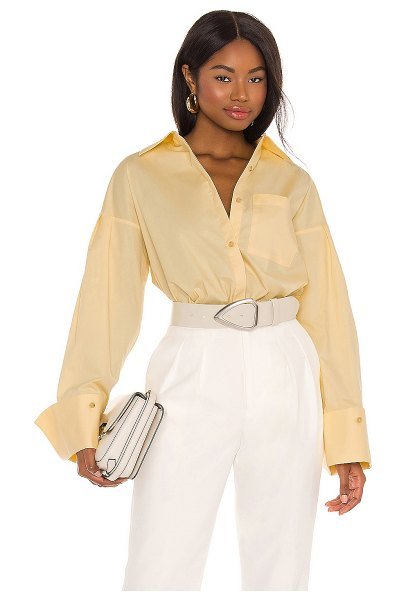 Lovers + Friends vose oversized shirt in cream