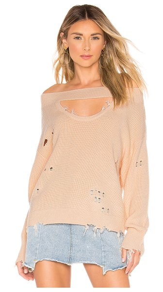 Lovers + Friends Wilton Sweater in peach - When you want to master casual cool, opt for the Wilton...