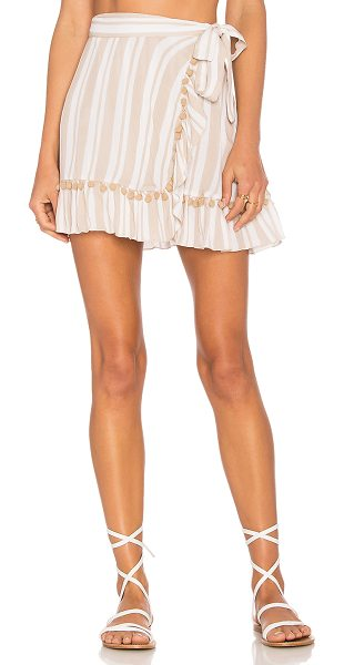 Lovers + Friends Alicia Skirt in nude stripe - Everything's sunnier in the Alicia Skirt by Lovers +...