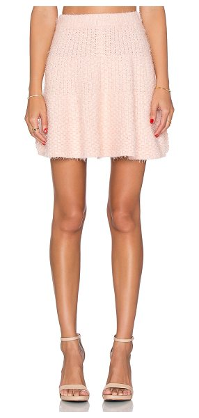 Lovers + Friends x REVOLVE Be Flirty Skirt in pink - Acrylic blend. Unlined. Elasticized banded waist. Skirt...