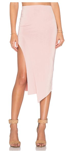 "Lovers + Friends X revolve bridgette midi skirt in pink - Poly blend. Dry clean only. Skirt measures approx 27""""..."