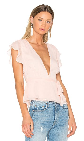 Lovers + Friends x REVOLVE Butterfly Blouse in blush - Ruffle up your usual charm in the Lovers + Friends...