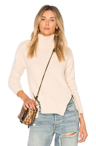 Lovers + Friends x REVOLVE Delridge Sweater in beige - 100% poly. Dry clean only. Knit fabric. Ribbed trim....