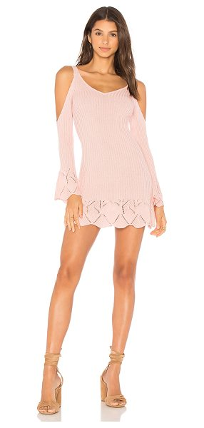 Lovers + Friends x REVOLVE Denny Dress in pink - Cozy meets sexy. Bare shoulders and turn heads in the...