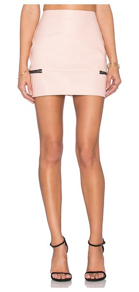 Lovers + Friends x REVOLVE Good To Be Bad Mini Skirt in pink - Self: 57% polyurethane 45% polyLining: 95% poly 5%...