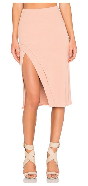 LOVERS + FRIENDS x REVOLVE Kelsey Skirt - Cotton blend. Hand wash cold. Fully lined. Elastic...