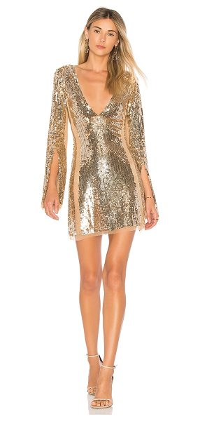 Lovers + Friends Lux Dress in metallic gold - Self & Lining: 100% nylon. Dry clean only. Fully lined....