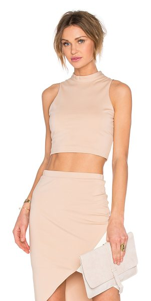Lovers + Friends x REVOLVE Mademoiselle Crop Top in blush - Cotton blend. Hand wash cold. Hidden back zipper...