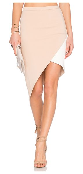 Lovers + Friends X revolve mademoiselle skirt in blush - Cotton blend. Partially lined. Stretch fit. Skirt...