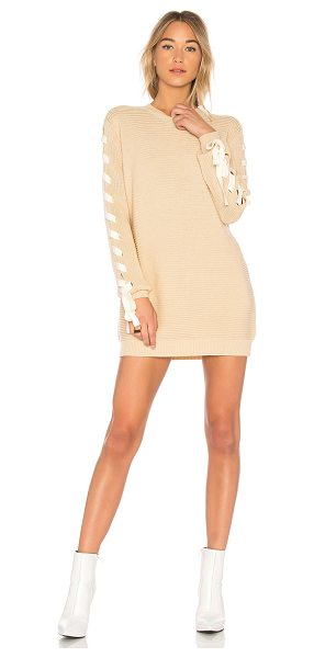 Lovers + Friends x REVOLVE Madison Dress in cream - 42% poly 25% acrylic 25% nylon 8% wool. Unlined. Hand...