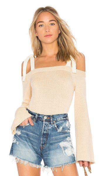 Lovers + Friends Mercer Sweater in cream - Bundle up in the coziest choice yet. Lovers + Friends x...