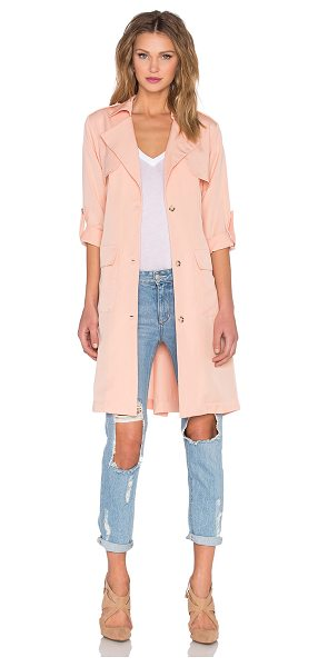 Lovers + Friends x REVOLVE Midnight Run Coat in blush - 100% tencel. Hand wash cold. Front button closures....