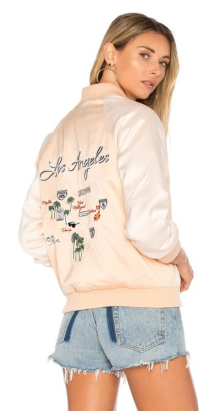 Lovers + Friends x REVOLVE Roadtrippin Bomber in champagne - This way to L.A. The Lovers + Friends Roadtrippin'...
