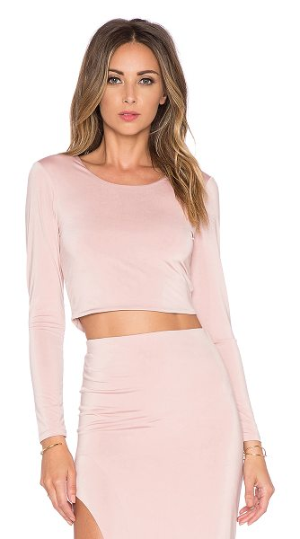 LOVERS + FRIENDS X revolve say it isnt so crop top - Poly blend. Dry clean only. LOVF-WS358. RV15E0069 LF....