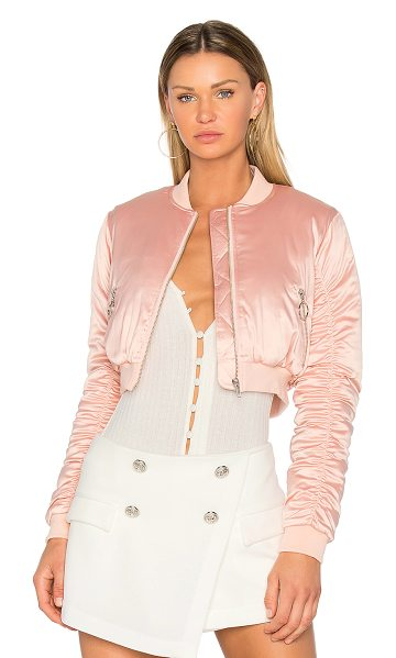 LOVERS + FRIENDS x REVOLVE Short Love Bomber - Blush your way into a stacked jacket collection with...