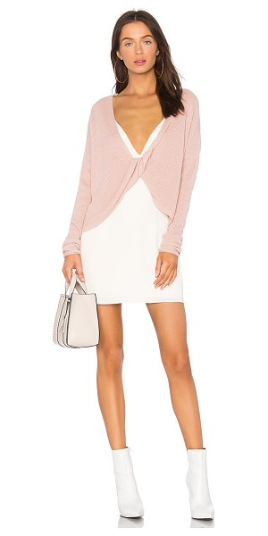 Lovers + Friends Spring Sweater in rose - Don't get it twisted, the Lovers + Friends x REVOLVE...