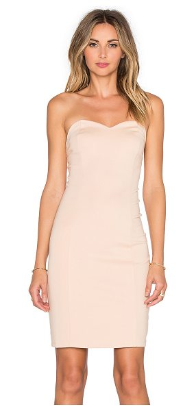 Lovers + Friends X revolve strapless staple dress in tan - Shell: 66% rayon 30% nylon 4% elastaneLining: 90% poly...