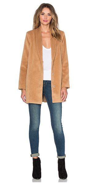 Lovers + Friends X revolve the everyday coat in tan - Self: 85% poly 15% viscoseLining: 97% poly 3% elastane....