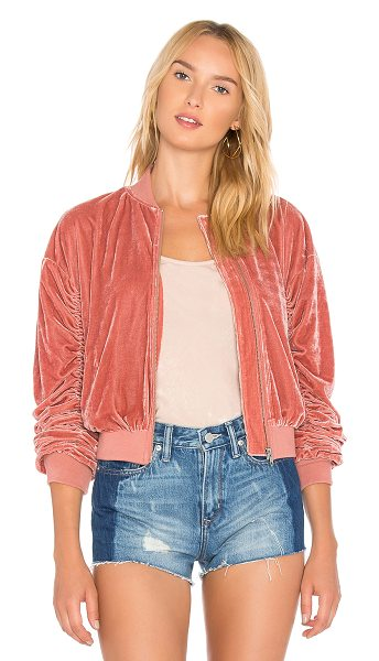 LOVERS + FRIENDS x REVOLVE The Leighton Bomber - Self & Lining: 95% poly 5% elastane. Zipper front closure....