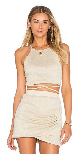 LOVERS + FRIENDS x REVOLVE x Alexis Ren Star Goddess Crop Top - Lurex blend. Hand wash cold. Waist wrap with tie...