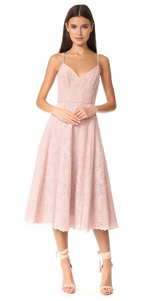 LoveShackFancy molly dress in mauve - This fit-and-flare LOVESHACKFANCY dress is composed of...