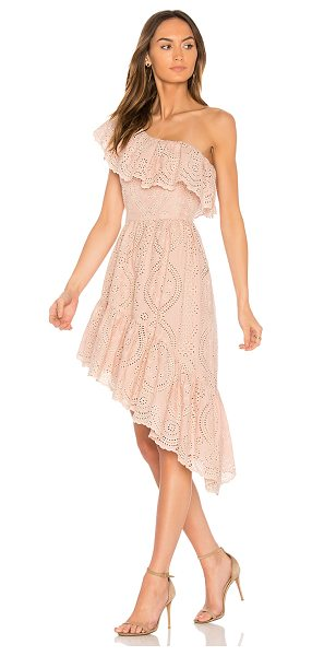 LoveShackFancy Pamela Party Dress in pink - Cotton blend. Dry clean only. Fully lined. Draped ruffle...