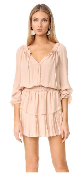 LoveShackFancy popover dress in powder pink - Raw, gentry frayed edges lend a deconstructed feel to...