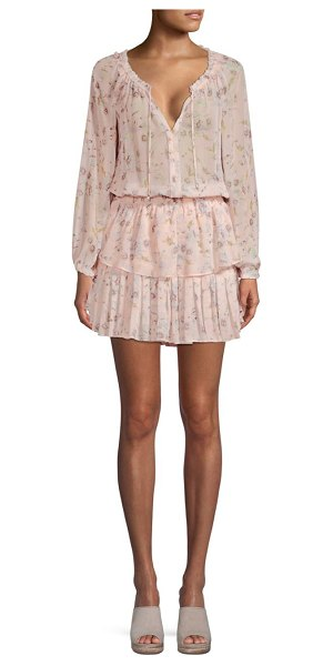 LoveShackFancy popover floral tunic dress in goassamer pink - From the Saks It List: Garden Party Florals. Feminine...