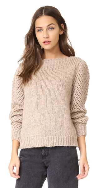 LoveShackFancy rosie pullover in oatmeal - This cozy alpaca LOVESHACKFANCY sweater is accented with...