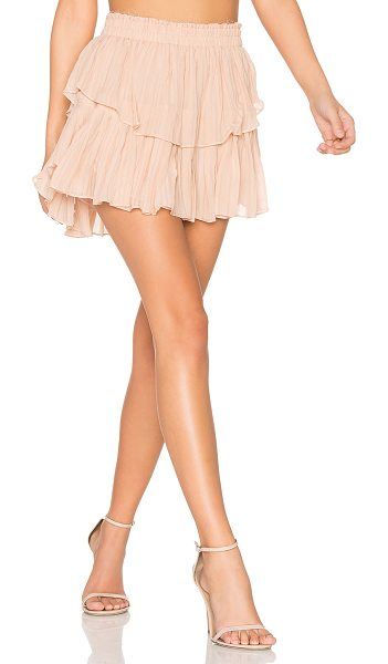 LoveShackFancy Ruffle Mini Skirt in blush - Self: 100% silkLining: 100% poly. Dry clean only. Fully...