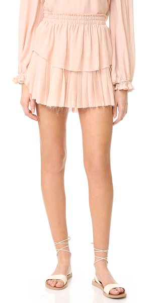 LOVESHACKFANCY ruffle miniskirt - Smooth and pleated panels form this delicate...