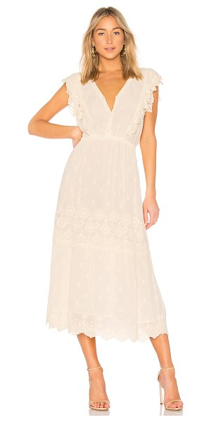 LoveShackFancy Savannah Dress in cream - 100% viscose. Dry clean only. Fully lined. Embroidered...