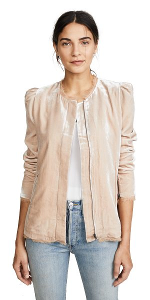 LoveShackFancy sienna jacket in toasted almond - This silky, crushed velvet LOVESHACKFANCY jacket is...