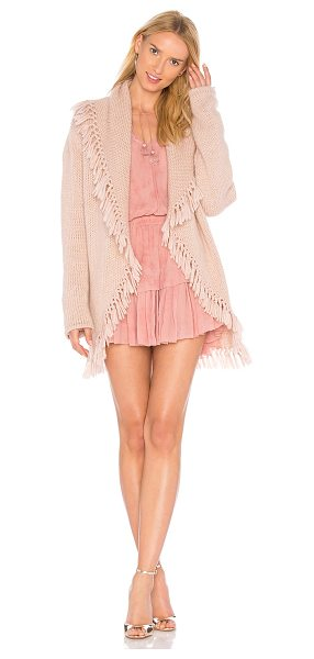 LoveShackFancy Tassel Shawl in rose - Wool blend. Dry clean only. Draped open front. Tassel...