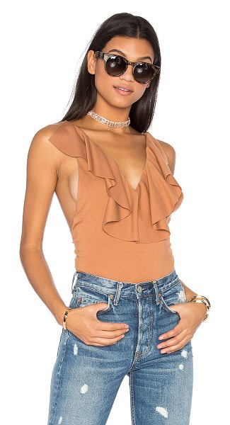 LPA Bodysuit 156 in tan - Showcase that feminine charm in the bodysuit 156. V...