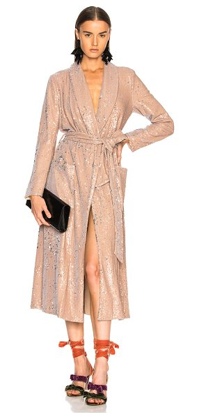 LPA Coat 463 in nude - Self: 97% poly 3% spandex - Lining: 95% poly 5% spandex....