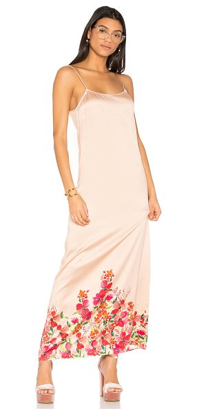 LPA Dress 192 in peach - Step out in the Dress 192 by LPA. A creamy, silk blend...