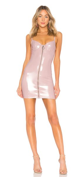 LPA Dress 651 in mauve - 100% polyurethane with ground 88% poly 12% spandex. Hand...