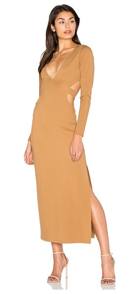LPA Dress 80 in taupe - Cut from thick ponte fabric, Dress 80 sports a sultry...
