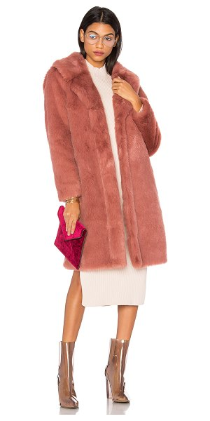 LPA Faux Fur Coat 111 in mauve - Get into the depths of fashion with Coat 111 by LPA. A...