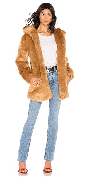 LPA faux fur coat 84 in brown