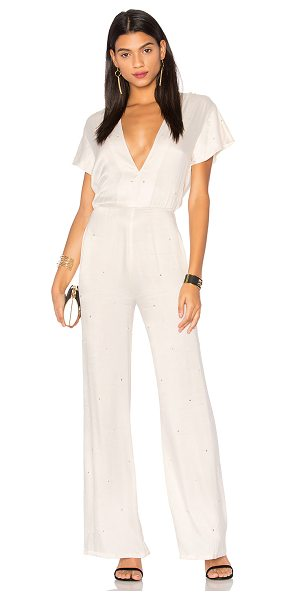 LPA Jumpsuit 94 in cream - Glamourous meets girly in LPA's Jumpsuit 94. Studded...
