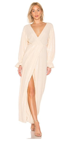 LPA laria wrap dress in nude