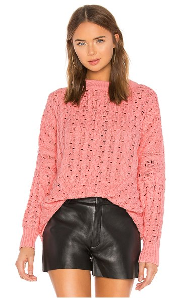 LPA oversized sweater in light pink