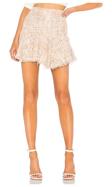 "LPA Skirt 595 in metallic neutral - ""Self: 90% poly 7% nylon 3% cottonLining: 97% poly 3%..."