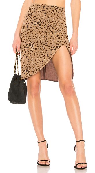 """LPA Skirt 693 in brown - """"Self & Lining: 100% poly. Hand wash cold. Fully lined...."""
