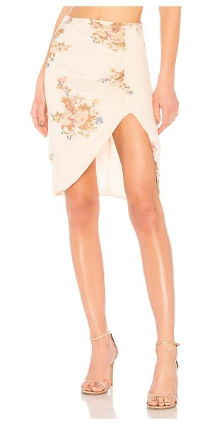 "LPA Skirt 693 in cream - ""Poly blend. Hand wash cold. Fully lined. Glittered..."
