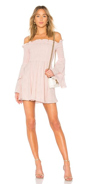 LPA smocked mini dress in blush